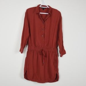 J Crew Drapey oxford crepe shirtdress